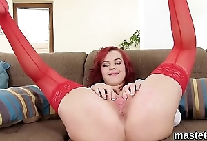 Peculiar czech cutie stretches her pink fissure to the special