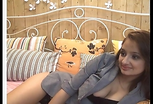 Indian chick teases on webcam