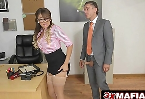 Bad Black Secretary Cassidy Banks Clogged up On By Her Boss&rsquo_ Big Dick