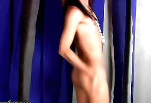 Teen Filipino ladyman loves to dance and play with girl rod