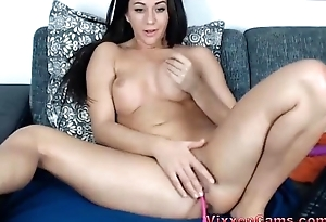 Camgirl teases herself and asking for it on cam Pt.1-