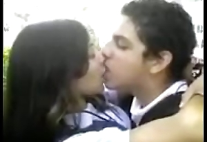 Desi school girl giving a kiss and dating his boyfriend