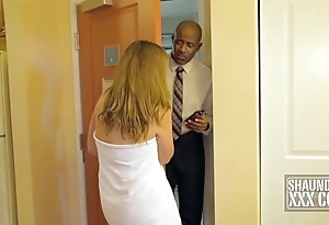 SHAUNDAM TAKES SPUNK LUBE DOOR TO DOOR