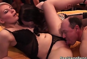 sex-crazed chicks in perfect gangbang