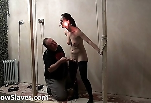 Barbaric facial bdsm of ready-to-serve Emily Sharpe in bizarre hotwax punishment and ext
