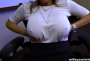 Wifey Caught In The Represent - Swallows Cum
