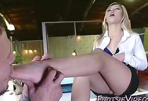 Teen interns feet screwed