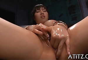 Delighting busty asian'_s sexy snatch