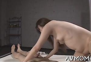 Mother i'_d disposed to to fuck oriental receives fingered increased by drilled