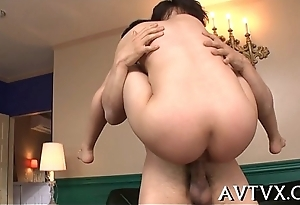 Fantastic with an increment of wild feel one's way blowjob