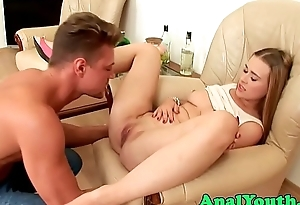 Teen babe fucked into ass at the end of one's tether boyfriend