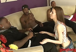 Very miserly babe fucked by big hard cock on the couch