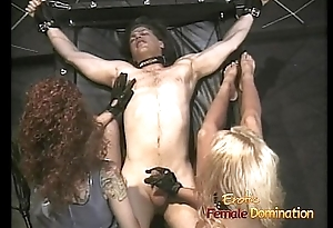 Steaming hot threesome in the matter of two lusty harlots in the dungeon