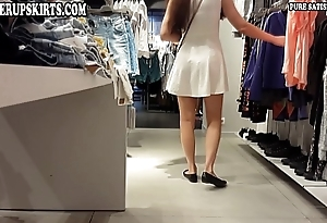 Upskirt clip of girl with respect to long become angry