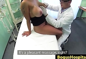 Bigtitted invalid pussypounded by her doctor
