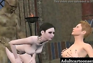 Bisexual 3D Toon Coddle Gets Licked and Fucked
