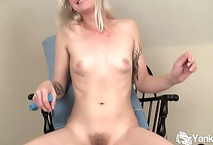 Small Titted Ari Vibrating The brush Twat
